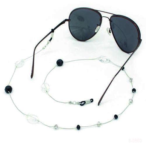 Brillenkoortje zilver witte kralen