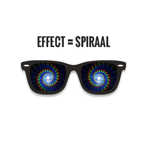Spiraal diffractie effect