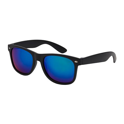 Festival-zonnebril-wayfarer-groen-blauw-zijkant
